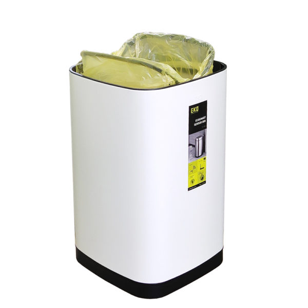 EK9288 WH 40L механизм крепления мусорного мешкаnbsp- EKOBIN