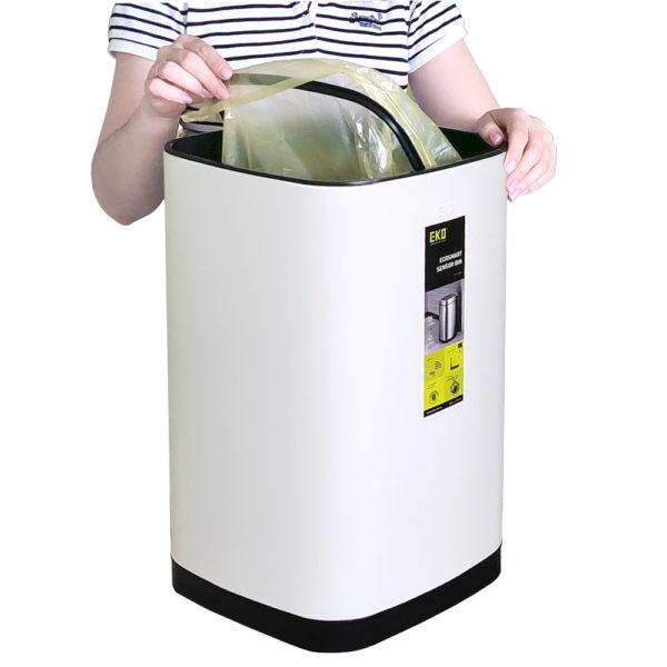 EK9288 WH 40L крепление мусорного мешкаnbsp- EKOBIN