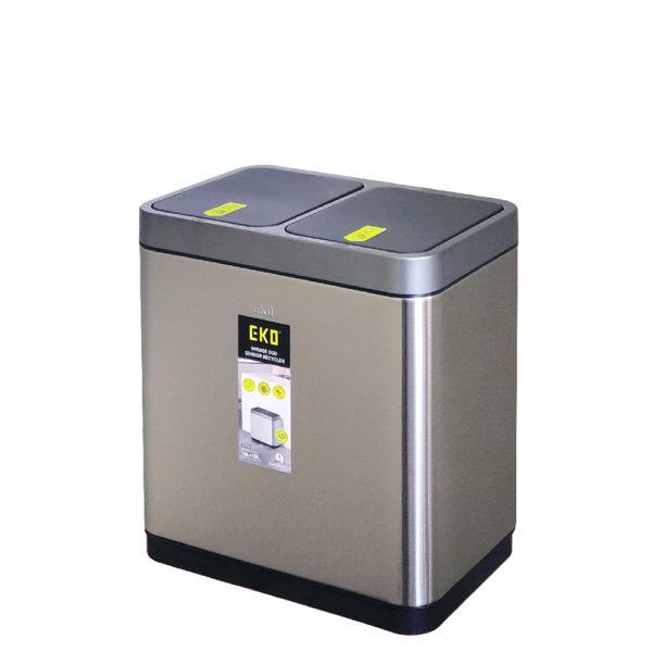 Сенсорное мусорное ведро EKO для раздельного сбора отходов модель EK9263MT 10+10Lnbsp- EKOBIN