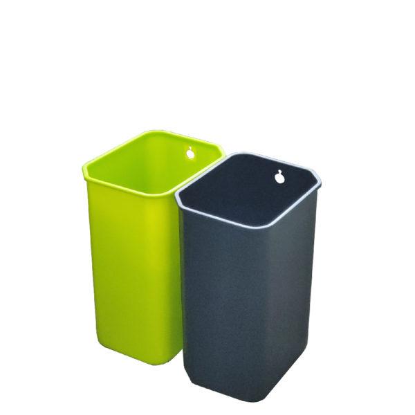 Сенсорное мусорное ведро EKO для раздельного сбора отходов модель EK9263MT 10+10L внутренние полипропиленовые контейнерыnbsp- EKOBIN