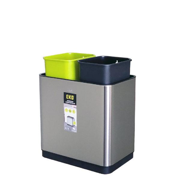 Сенсорное мусорное ведро EKO для раздельного сбора отходов модель EK9263MT 10+10L внутренние полипропиленовые контейнеры Установка внутренних полипропиленовых контейнеровnbsp- EKOBIN