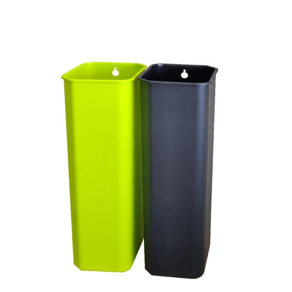 Сенсорное мусорное ведро EKO для раздельного сбора отходов модель EK9263MT 15+15L внутренние полипропиленовые контейнерыnbsp- EKOBIN