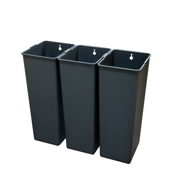 Модульное сенсорное мусорное ведро EKO EK927030+30+30L на 90 литров Внутренние полипропиленовые контейнерыnbsp- EKOBIN