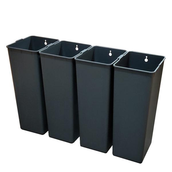 Модульное сенсорное мусорное ведро EKO EK927030+30+30+30L на 120 литров Внутренние полипропиленовые контейнерыnbsp- EKOBIN
