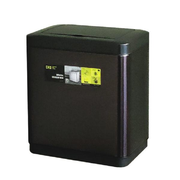 Сенсорное мусорное ведро EKO серия BRAVIA EK9233P20LMBS благородная нержавеющая сталь цвет черный сатинnbsp- EKOBIN