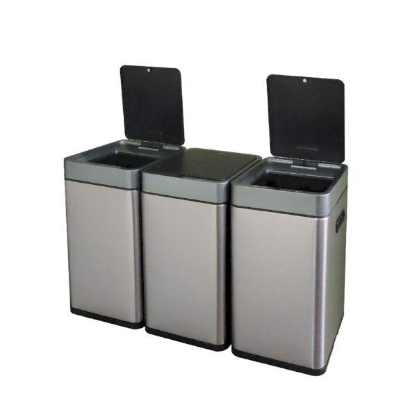 Сенсорное модульное мусорное ведро EKO серии MIRAGE SLIM модель EK9270MT20L+20L+20Lnbsp- EKOBIN