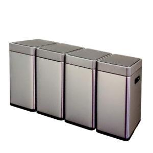 Сенсорное модульное мусорное ведро EKO серии MIRAGE SLIM модель EK9270MT-20L+20L+20L+20L