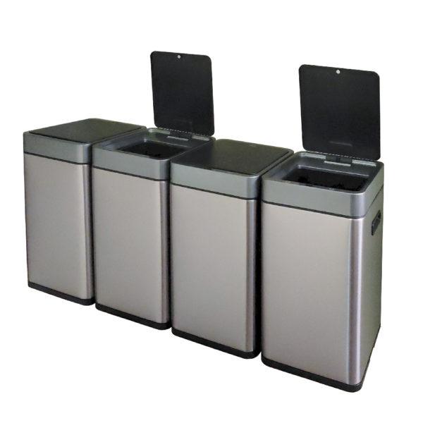 Сенсорное модульное мусорное ведро EKO серии MIRAGE SLIM модель EK9270MT20L+20L+20L+20Lnbsp- EKOBIN