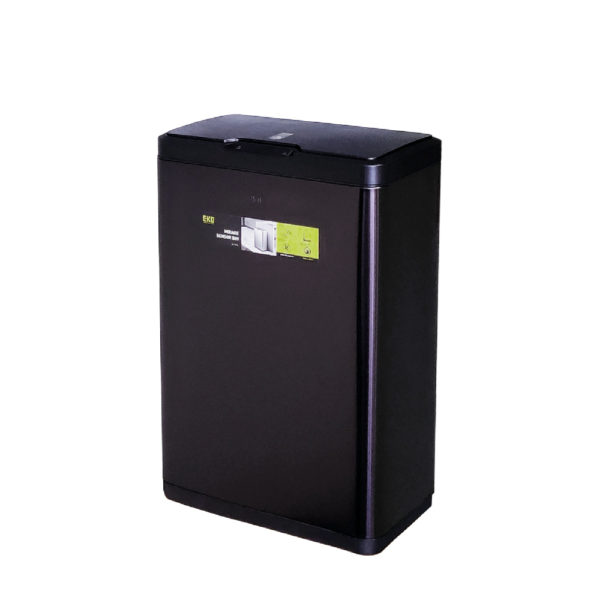 Сенсорное мусорное ведро EKO серия MIRAGE EK9278P50LMBS благородная нержавеющая сталь цвет черный сатинnbsp- EKOBIN