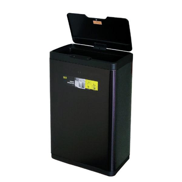 Сенсорное мусорное ведро EKO серия MIRAGE EK9278P80LMBS благородная нержавеющая сталь цвет черный сатинnbsp- EKOBIN